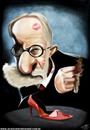 Cartoon: Caricature of Freud (small) by Toni DAgostinho tagged freud