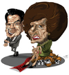 Cartoon: R. Reagan and M. Thatcher (small) by Toni DAgostinho tagged thatcher,reagan,caricatura,toni,dagostinho
