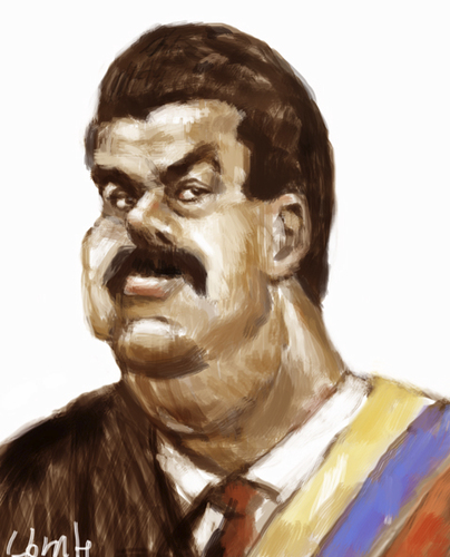 Cartoon: Nicolas Maduro (medium) by horate tagged politic