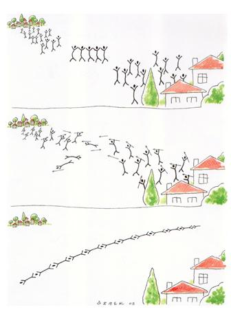 Cartoon: border (medium) by ozbek tagged border