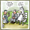 Cartoon: UPSET (small) by NOTFUNNY tagged zebra,asthma,paint,wet,bench