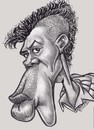 Cartoon: Homeboye with MOHAWK (small) by subwaysurfer tagged caricature,pencil,pen,and,ink,mohawk
