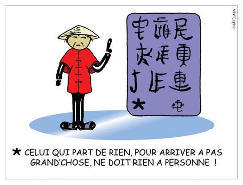 Cartoon: CHINOISERIE (medium) by chatelain tagged humour,chinoiserie,