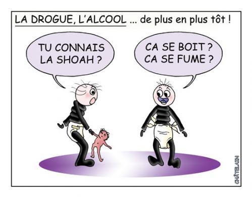 Cartoon: DE PLUS EN PLUS TOT (medium) by chatelain tagged humour,drogue,tot,chtis,patarsort,,plus
