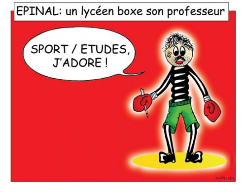 Cartoon: IMAGE D EPINAL.... (medium) by chatelain tagged humour,epinal,patarsort,professeur,