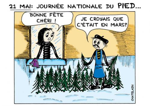 Cartoon: JOURNEE DU PIED (medium) by chatelain tagged humour,pied