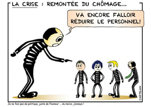 Cartoon: le chomage (medium) by chatelain tagged humour