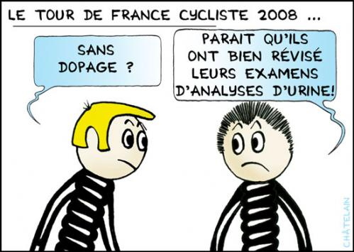 Cartoon: Le TOUR de FRANCE (medium) by chatelain tagged humour,tour,france,cyclistes