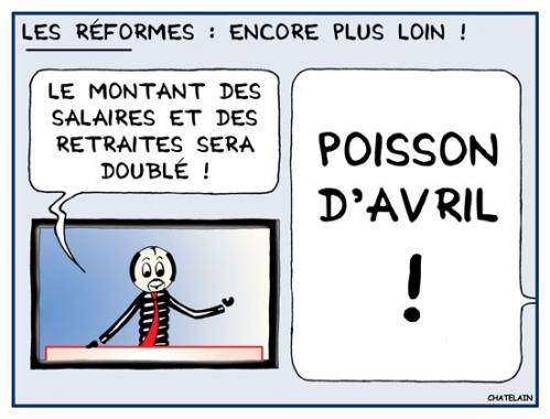 Cartoon: LES REFORMES (medium) by chatelain tagged humour,reformes,