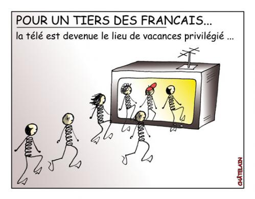 Cartoon: LES VACANCES (medium) by chatelain tagged humour,vacances,france,ch,tis,