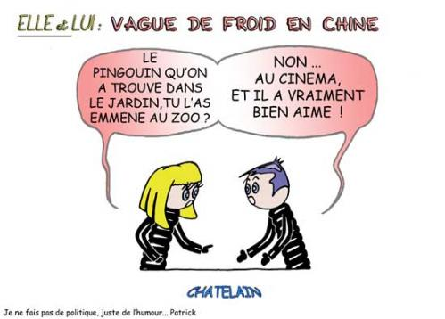 Cartoon: VAGUE DE FROID ... (medium) by chatelain tagged vague,froid,patarsort,