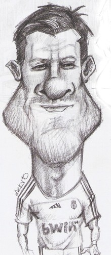 Cartoon: xabi alonso sketch (medium) by Arley tagged real,madrid,xabi,alonso,caricature,caricatura