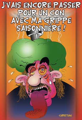 Cartoon: Grippe H1N1 ... (medium) by CHRISTIAN tagged grippe,porcine