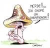 Cartoon: champignons (small) by CHRISTIAN tagged champignons