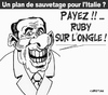 Cartoon: ON VA PAYER ! (small) by CHRISTIAN tagged berlusconi,italie,crise,euro