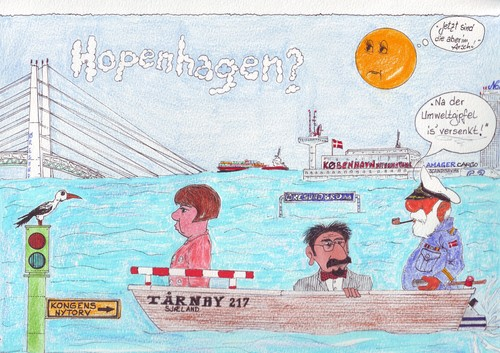 Cartoon: Hopenhagen (medium) by mescalero tagged mescalero
