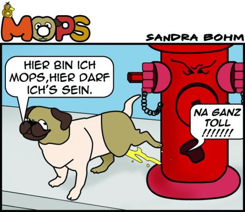 Cartoon: Mops... (medium) by Sandra tagged mops,pet,dog