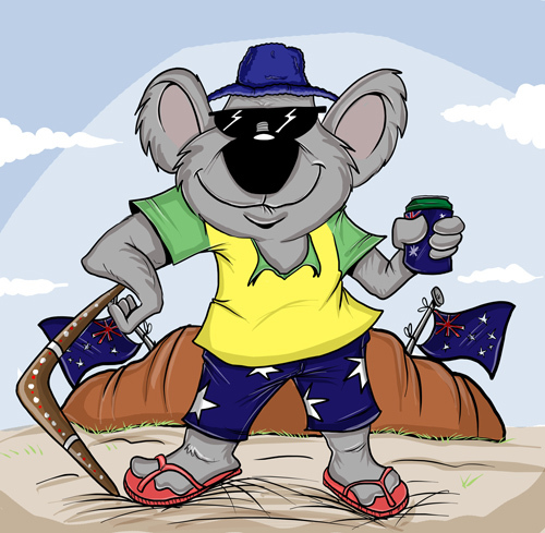 Cartoon: Proud Aussie (medium) by tooned tagged cartoons,caricature,comics
