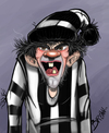 Cartoon: Crazy supporter (small) by tooned tagged cartoons,caricature,illustrati