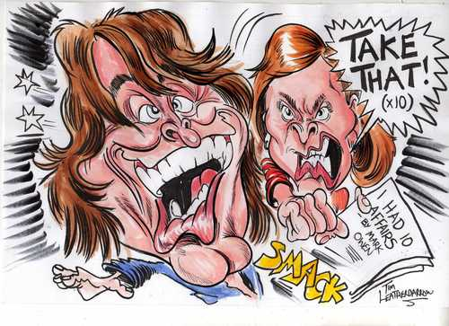 Cartoon: TAKE THAT- MARK OWEN (medium) by Tim Leatherbarrow tagged takethat,markowen,affairs