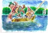 Cartoon: THE FISHING TRIP (small) by Tim Leatherbarrow tagged fishing,fishermen,sea,monster