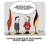 Cartoon: Drachengeweih? (small) by FEICKE tagged merkel,xi,ping,besuch,china,deutschland,beziehungen