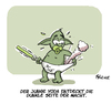 Cartoon: Meisterchen Yoda (small) by FEICKE tagged star,wars,jedi,ritter,dunkle,seite,darth,vader,meisetr,joda