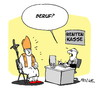 Cartoon: Papst in Rente (small) by FEICKE tagged papst,bendikt,xvi,rücktritt,kirche,katholiken,katholizismus