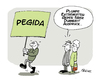 Cartoon: Pegidiot (small) by FEICKE tagged pegida,nazis,extremisten,ausländer,rassismus,demokratie,demonstration