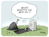 Cartoon: RIP Karl Dall (small) by FEICKE tagged karl,dall,komiker,comedy,tv,musik,lied,kalauer