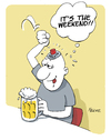 Cartoon: Weekend (small) by FEICKE tagged weekend,beer,party,drink,pub,bar,cocktail