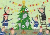 Cartoon: football new year (small) by Sergei Belozerov tagged sport,fußball,football,winter,tree,decoration,christmas,cup,card,referee