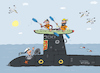 Cartoon: Tiefes Blaues Meer (small) by belozerov tagged kayak,submarine,sailor,seemann,abenteuer,paddel,canoe,wasser