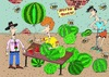 Cartoon: watermelon (small) by Sergei Belozerov tagged watermelon