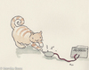 Cartoon: High Voltage (small) by monika boos tagged cat,katze,high,voltage,strom,gemein
