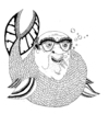 Cartoon: fishman or something.. (small) by jannis tagged people