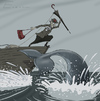 Cartoon: Hunting (small) by Elkin tagged sea,whale,hunting