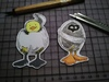 Cartoon: two eggs (small) by secretcircle tagged ostern,easter,duck,small,hatchling