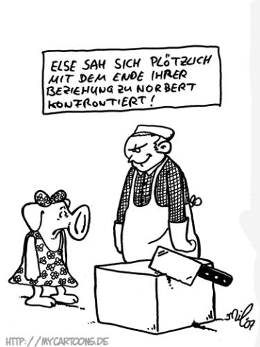 Cartoon: Else (medium) by mil tagged cartoon,schwein,beziehung,mil