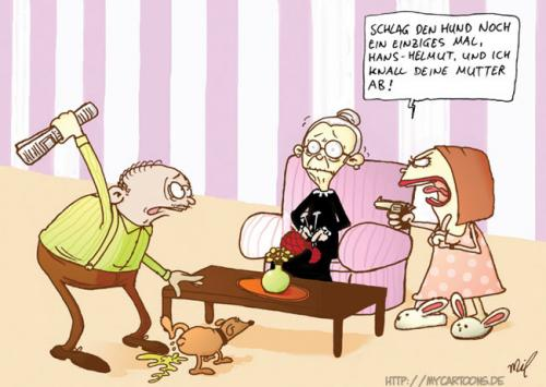 Cartoon: Hans-Helmut - die liebe Familie (medium) by mil tagged cartoon,hans,helmut,familie,mil