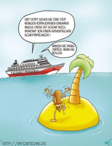 Cartoon: Insel Tours (medium) by mil tagged cartoon,insel,schiff,mil