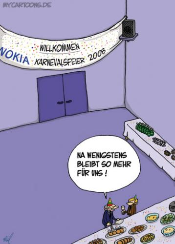Cartoon: Karneval bei Nokia (medium) by mil tagged karneval,rosemontag,nokia,mil,