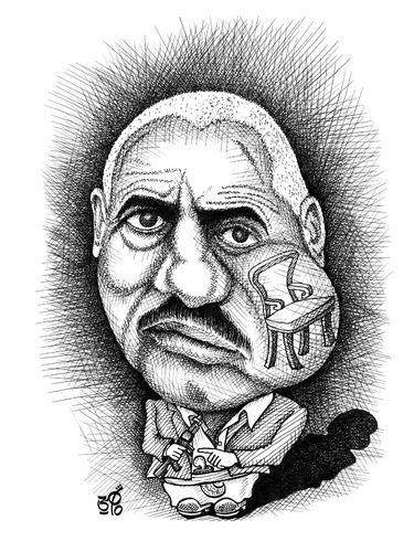 Cartoon: Ali Abdullah Saleh of Yemen (medium) by samir alramahi tagged yemeni,president,ali,abdullah,saleh,yemen,qat,arab,ramahi,cartoon,spring