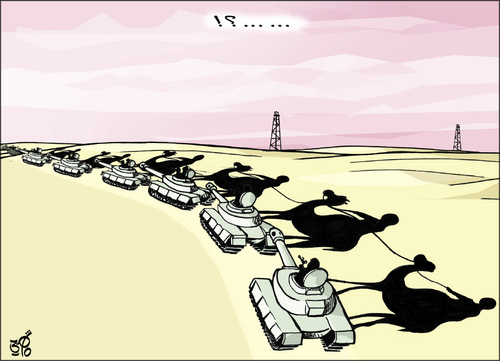 Cartoon: arab tanks (medium) by samir alramahi tagged arab,revelutions,ramahi,cartoon