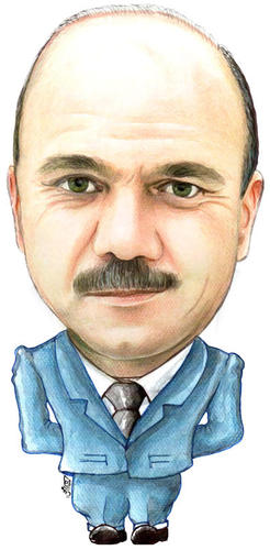 Cartoon: Faisal al-Fayez of jordan (medium) by samir alramahi tagged faisal,fayez,jordan,prime,minister,ramahi,arab,politics,portrait