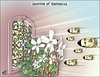 Cartoon: Jasmine of damascus (small) by samir alramahi tagged asad,bashar,arab,syria,assad,revelution,ramahi,cartoon,jasmine,damascus