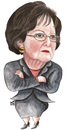 Cartoon: Leila Sharaf of jordan (small) by samir alramahi tagged leila,sharaf,jordan,arab,ramahi,cartoon,portrait