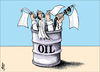 Cartoon: peace oil02 (small) by samir alramahi tagged peace oil arab ramahi cartoon israel palestine