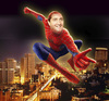 Cartoon: spider man over amman (small) by samir alramahi tagged jordan election spider amman prime minister samir rifai ramahi cartoon collage arab