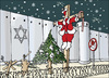 Cartoon: X-mas in holly land (small) by samir alramahi tagged peace,palestine,israel,ramah,cartooni,politics,christmas